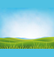 summer or spring meadows background vector image vector image