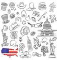 symbols of usa vector image vector image