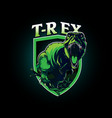 t-rex insignia symbol vector image vector image