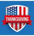 Thanksgiving on USA flag shield vector image vector image