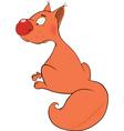 The squirrel cartoon vector image vector image