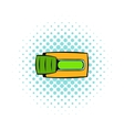 Toggle switch in Yes position icon comics style vector image vector image
