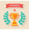 Trophy winner Ribbon in flat design vector image vector image