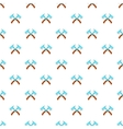 Two axe pattern cartoon style vector image vector image