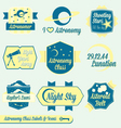 Vintage Astronomy Class Labels and Icons vector image