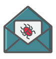 virus in email colorful line icon spam vector image vector image