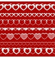 White seamless paper garlands from hearts set on vector image vector image