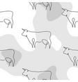 year bull one line bull seamless pattern vector image