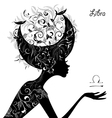 Zodiac sign libra fashion girl vector image vector image