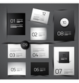 Set of modern web shadow design templates vector image