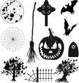 Icons Halloween Set vector image