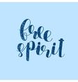 Free spirit Brush lettering vector image
