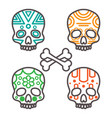 set of four tribal skulls vector image