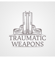 Abstract of traumatic weapons vector image vector image