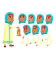 arab muslim teen girl teenager positive vector image vector image