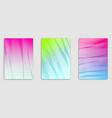 art linear minimalistic trendy brochure designs vector image