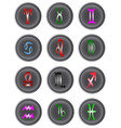 astrology icon buttons vector image vector image