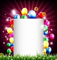 birthday background with balloon and place for tex vector image vector image