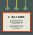 Blank Message Board On The Wall vector image