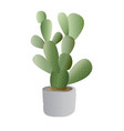 cactus plant with pot vector image