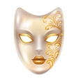 Carnival venetian masks decorated with golden vector image