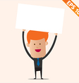 Cartoon business man with white board - - EP vector image vector image