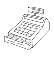 Cashbox icon in outline style isolated on white vector image vector image