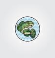 channa snakehead fish mascot logo symbol design vector image vector image