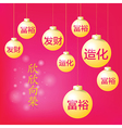 Chinese New year ball have greeting message vector image vector image