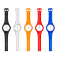 color wristwatch vector image vector image