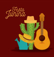 colorful poster festa junina with background of vector image vector image