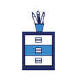 cup with writing utensils icon vector image vector image