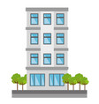cute building exterior icon vector image vector image