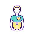 delivery medicines rgb color icon vector image