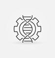 dna in cogwheel concept linear icon vector image