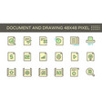 document and drawing icon vector image vector image