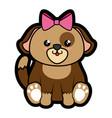 dog kawaii cartoon vector image