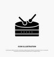 drum celebration solid black glyph icon vector image vector image
