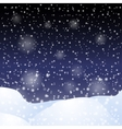 Falling snow against the dark night sky vector image