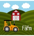 Farm fresh graphic vector image vector image