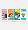 flat photography vertical banners vector image