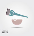 hair coloring flat icon with shadow vector image