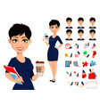 happy modern business woman with short haircut vector image vector image