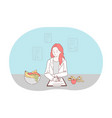 healthy food dieting professional nutritionist vector image