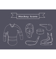 Hockey Sportswear Objects Line art vector image vector image
