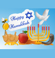 jewish holiday hanukkah background vector image vector image