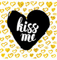 kiss me postcard design vector image