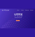 landing page template with gradient background vector image vector image