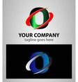 Letter O logo icon design vector image vector image