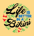 life is better summer quotes vector image vector image